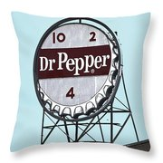 Dr Pepper Landmark Sign Roanoke Virginia Throw Pillow