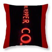Dr. Pepper Neon Throw Pillow