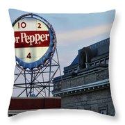 Dr Pepper Sign Throw Pillow