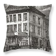 Dr. Samuel Johnson S Birthplace In Throw Pillow