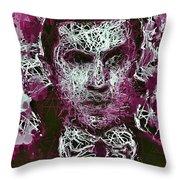 Dracula Throw Pillow by Al Matra