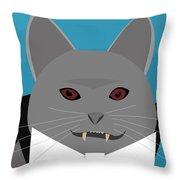 Dracula Cat Throw Pillow