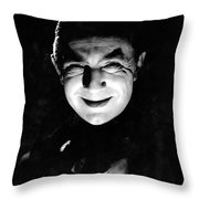 Dracula In The Shadows Throw Pillow