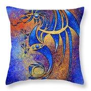 Dragissous V1 - Blue Dragon Throw Pillow