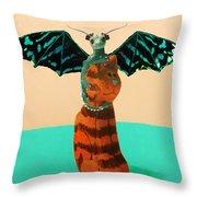 Dragon And Cat Throw Pillow