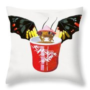 Dragon And Chinese Cup Throw Pillow