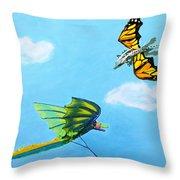 Dragon And Kite Throw Pillow