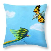 Dragon And Kite Throw Pillow