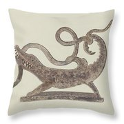 Dragon And Serpent Weather Vane Throw Pillow