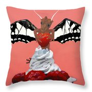 Dragon And Strawberry Throw Pillow
