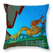Dragon At The Gate Throw Pillow