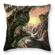 Dragon Branches Throw Pillow