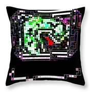 Dragon Brooch Throw Pillow by Eikoni Images