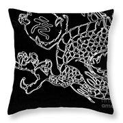Dragon Bw Throw Pillow