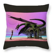 Dragon Throw Pillow by Corey Ford