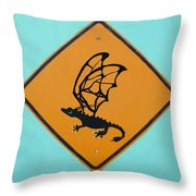 Dragon Crossing Throw Pillow