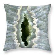 Dragon Eye Agate Druzy Throw Pillow