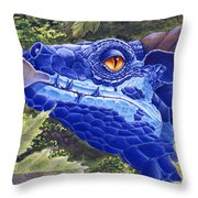 Dragon Eyes Throw Pillow