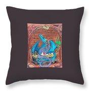 Dragon Family Throw Pillow