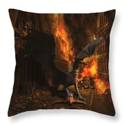 Dragon Flame Throw Pillow