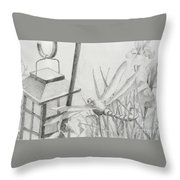 Dragon Fly And Lantern Throw Pillow