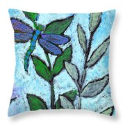 Dragon Fly At Rest Throw Pillow