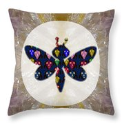 Dragon Fly Cute Painted Face Cartons All Over Donwload Option Link Below Personl N Commercial Uses Throw Pillow