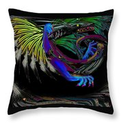 Dragon Flying Throw Pillow