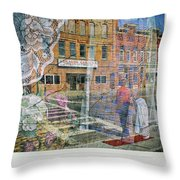 Dragon Garden Throw Pillow