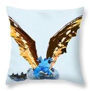 Dragon Hatching Throw Pillow
