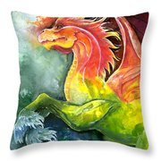 Dragon Horse Throw Pillow