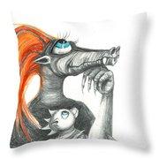 Dragon Mom Throw Pillow