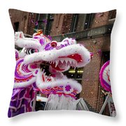 Dragon Moon Throw Pillow