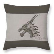 Dragon O King Throw Pillow