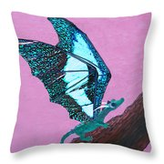 Dragon On Branch Throw Pillow