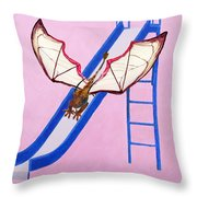 Dragon On Slide Throw Pillow