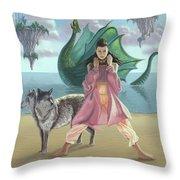 Dragon Queen Throw Pillow