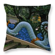 Bao Tang Temple Railing In Ho Chi Minh City Throw Pillow