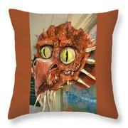 Dragon Sculpture Throw Pillow