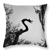 Dragon Shaped Tree Throw Pillow