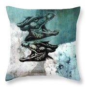 Dragon Sheep Throw Pillow