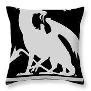 Dragon Spit Studios Logo Throw Pillow
