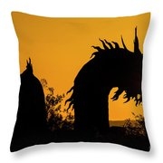 Dragon Sunrise 1 Throw Pillow