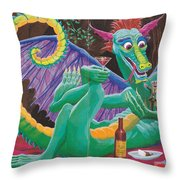 Dragon Sups Throw Pillow