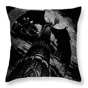 Dragon Tower Throw Pillow