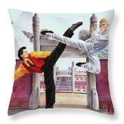 Dragon Unyielding Throw Pillow
