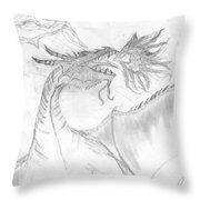 Dragon V. Throw Pillow