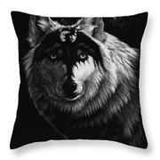 Dragon Wolf Throw Pillow by Stanley Morrison