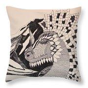 Dragon - Zentangle 16-04 Throw Pillow