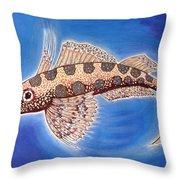 Dragonet Fish Throw Pillow
